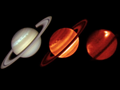 Saturn Northern Storm in Infrared and Visible Light