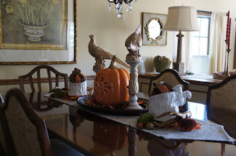 Dining Table Dressed Up for Autumn 2016