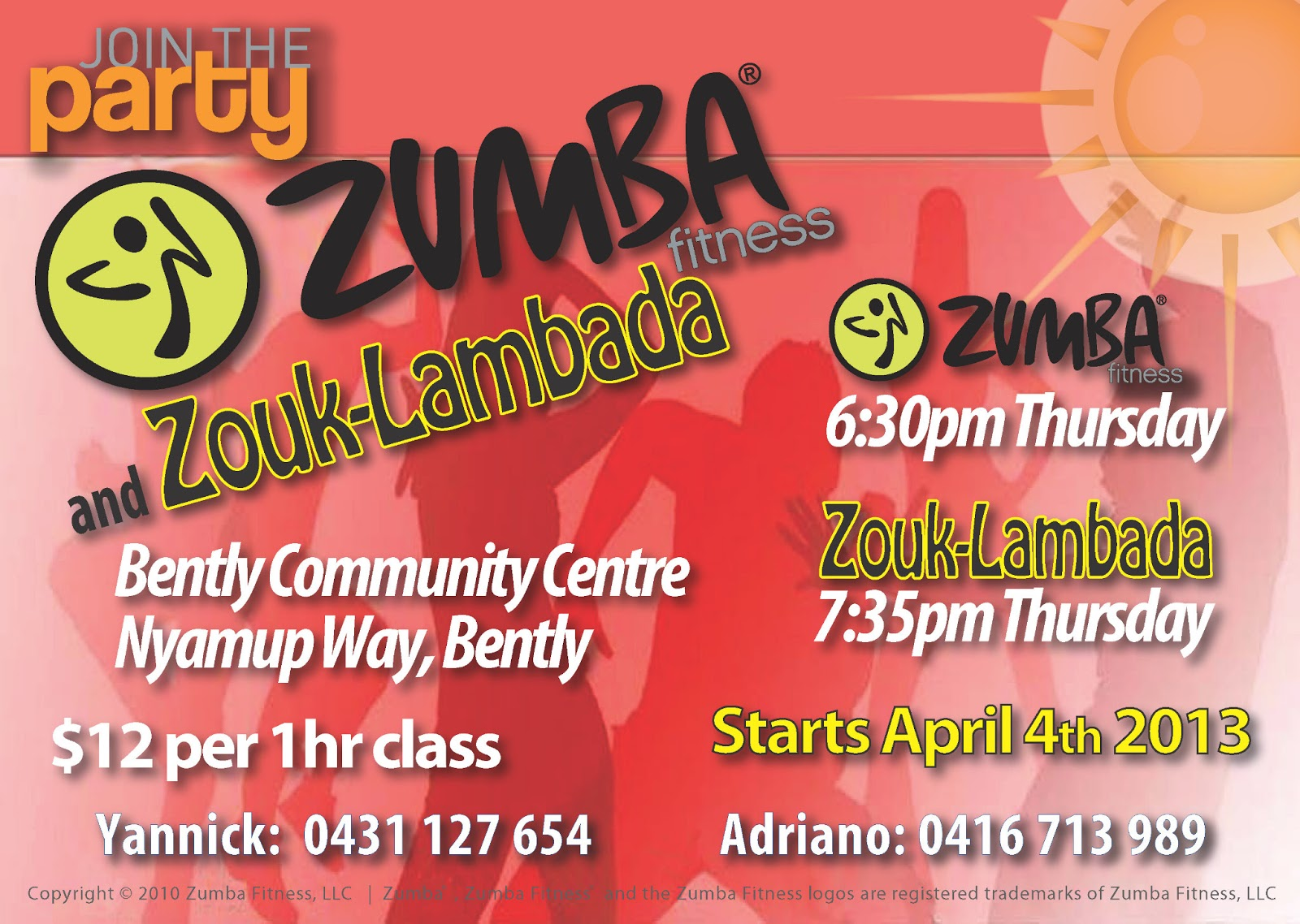 Zumba and Zouk Lambada Perth