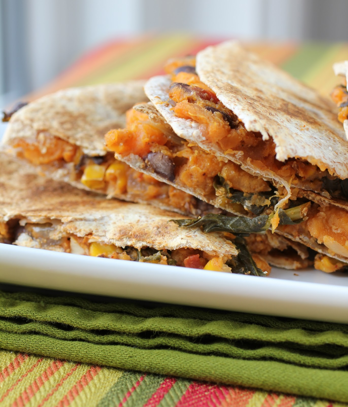 Sweet Potato and Kale Quesadillas - Healthy Girls Kitchen Printable ...