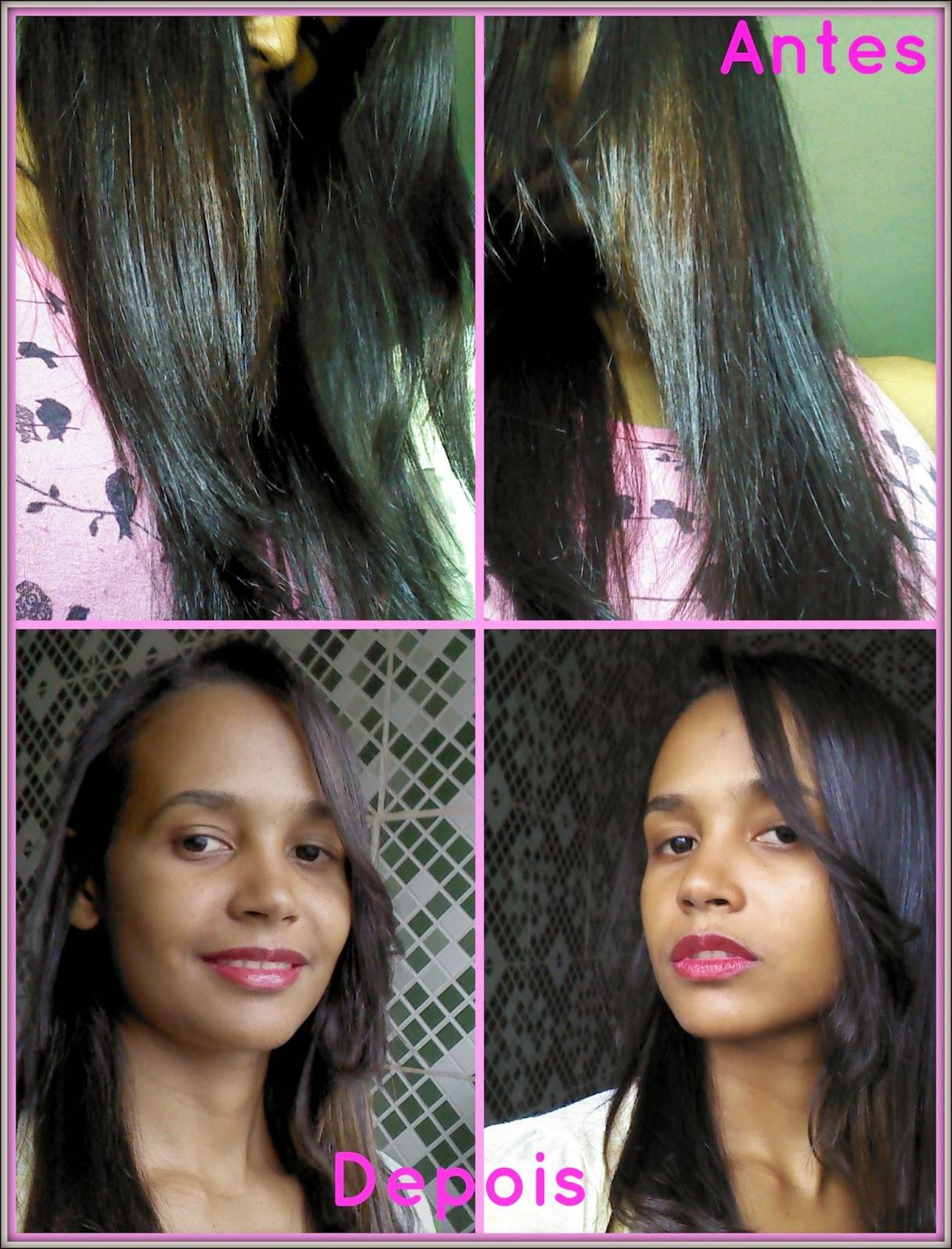 antes e depois de usar a linha revitay embelleze.