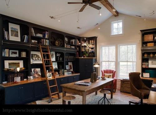 Office Bookshelf Decor