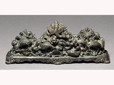 Yuan period Bronze Brush rest