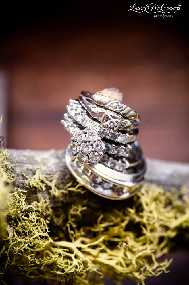 The wedding rings of Corey and Amanda - Wedding ceremony performed by Kent Buttars, Seattle Wedding Officiant