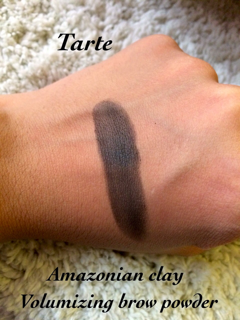 Tarte Amazonian Clay Volumizing Brow Powder In Black Brown Review