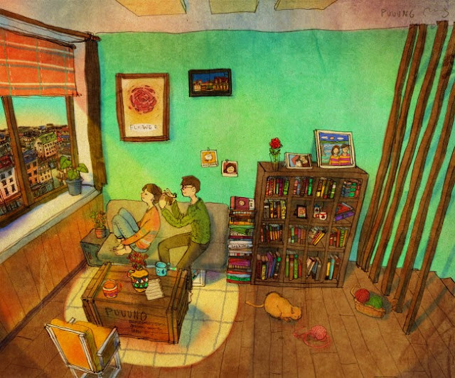 image dessin couple amoureux artiste puuug