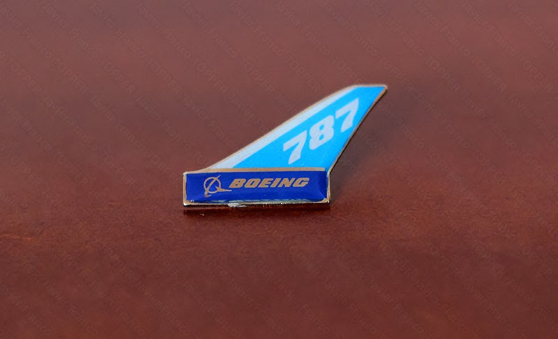 Broches o 'pin' de aviación - Boeing 787 Dreamliner
