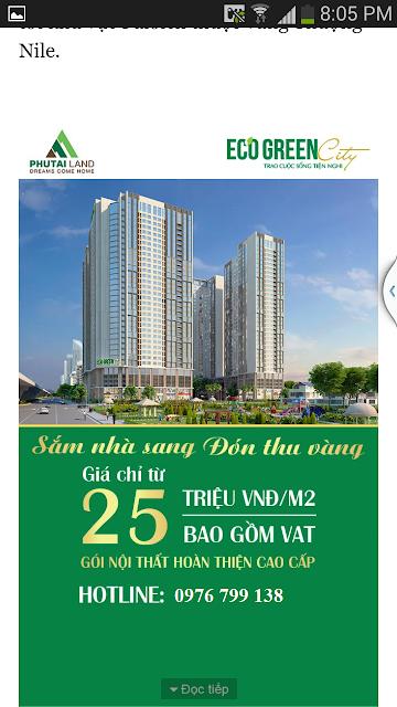 Eco Green City sắm nhà sang đón thu vàng