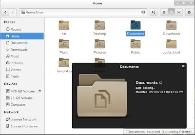 openSUSE 13.1 Milestone 4, GNOME live ISO Nautilus Preview