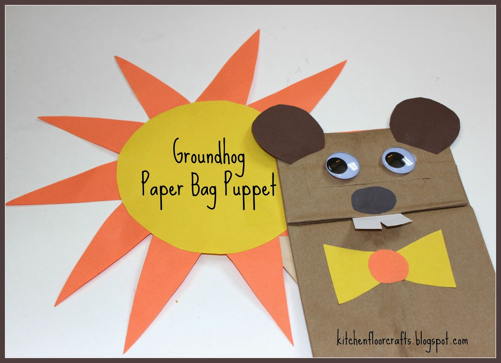how to make a bag puppet