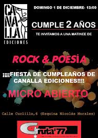 2º aniversario de Canalla Ediciones