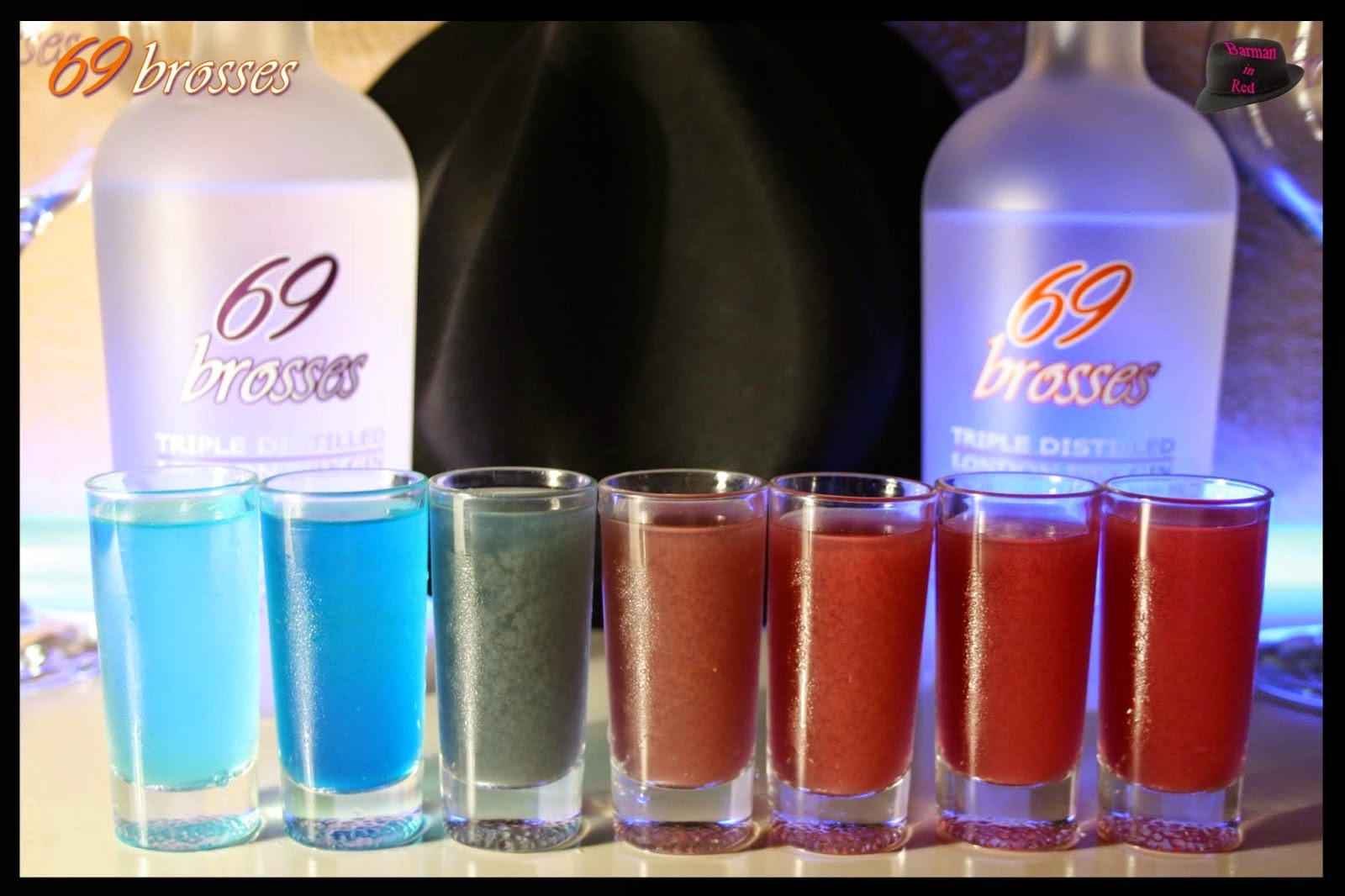 shots de colores