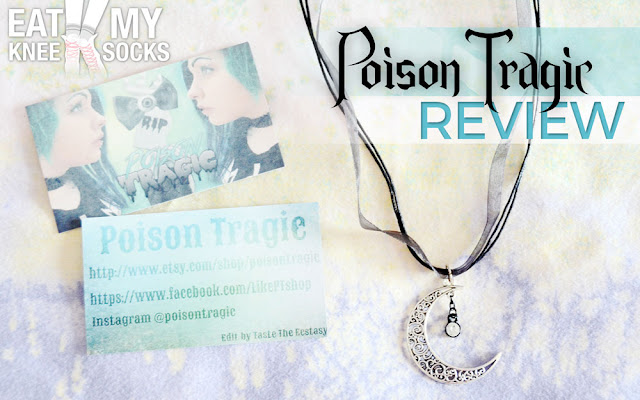 Today I'm reviewing the Nyctophilia Crescent cord-and-ribbon necklace from Poison Tragic, an Etsy Shop selling cute accessories, grunge jewelry and more! -Eat My Knee Socks/Mimchikimchi