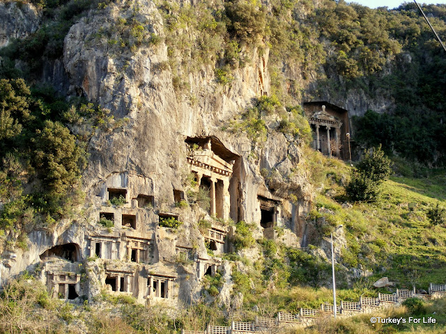 Rock Tombs, Fethiye, Turkey