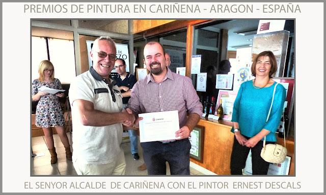 CARIÑENA-PINTURA-ARAGON-ZARAGOZA-ESPAÑA-PREMIOS-CONCURSOS-ALCALDE-FOTOS-ARTISTA-PINTOR-ERNEST DESCALS-