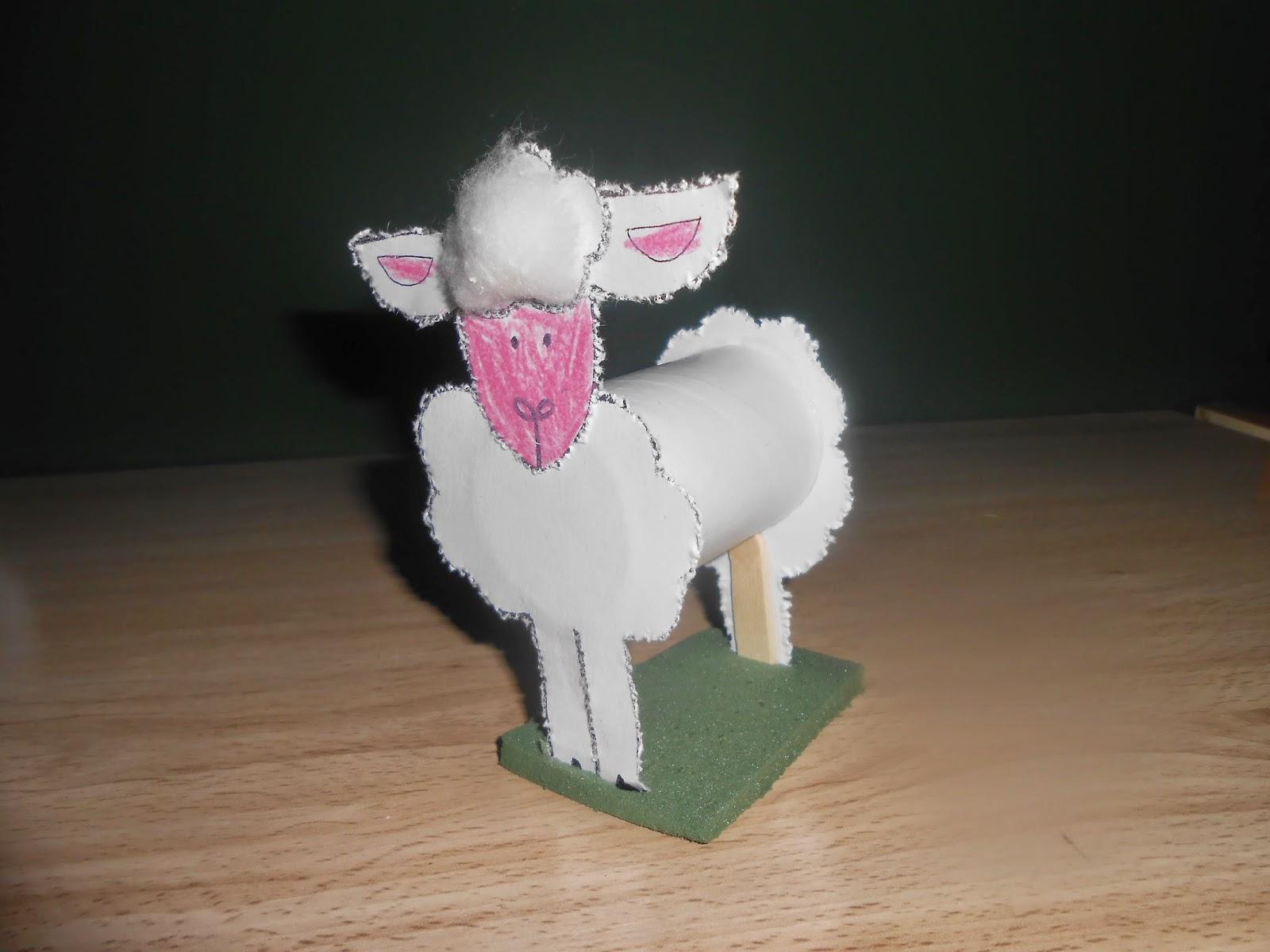 Els menudets del cole hacemos una oveja con un rollo de - Como hacer una oveja ...