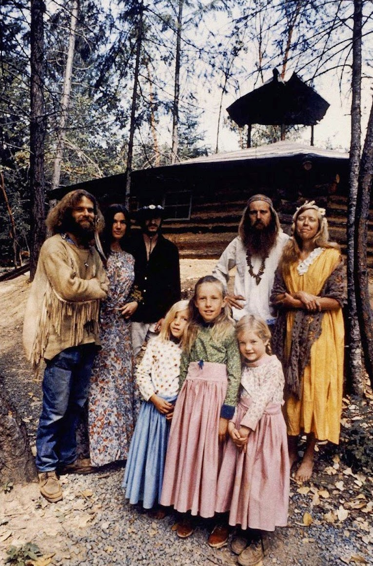 American vintage hippies from the 70s