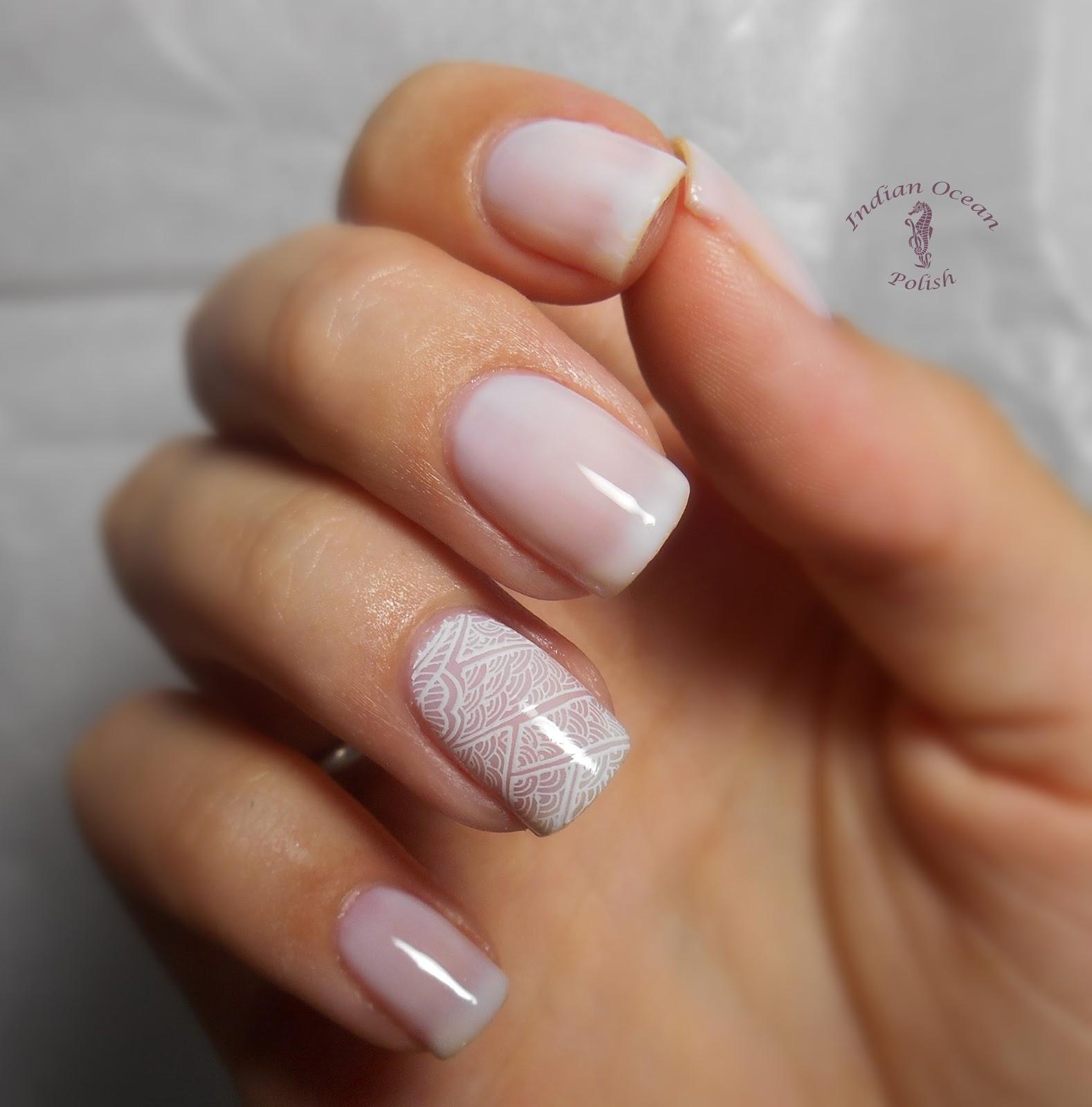 filename wedding manicure nails bridal subtle lace stampingjpg
