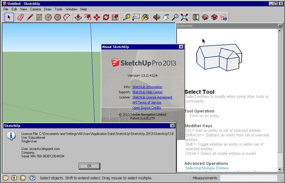 Image gallery sketchup 2013 serial for Sketchup 2013