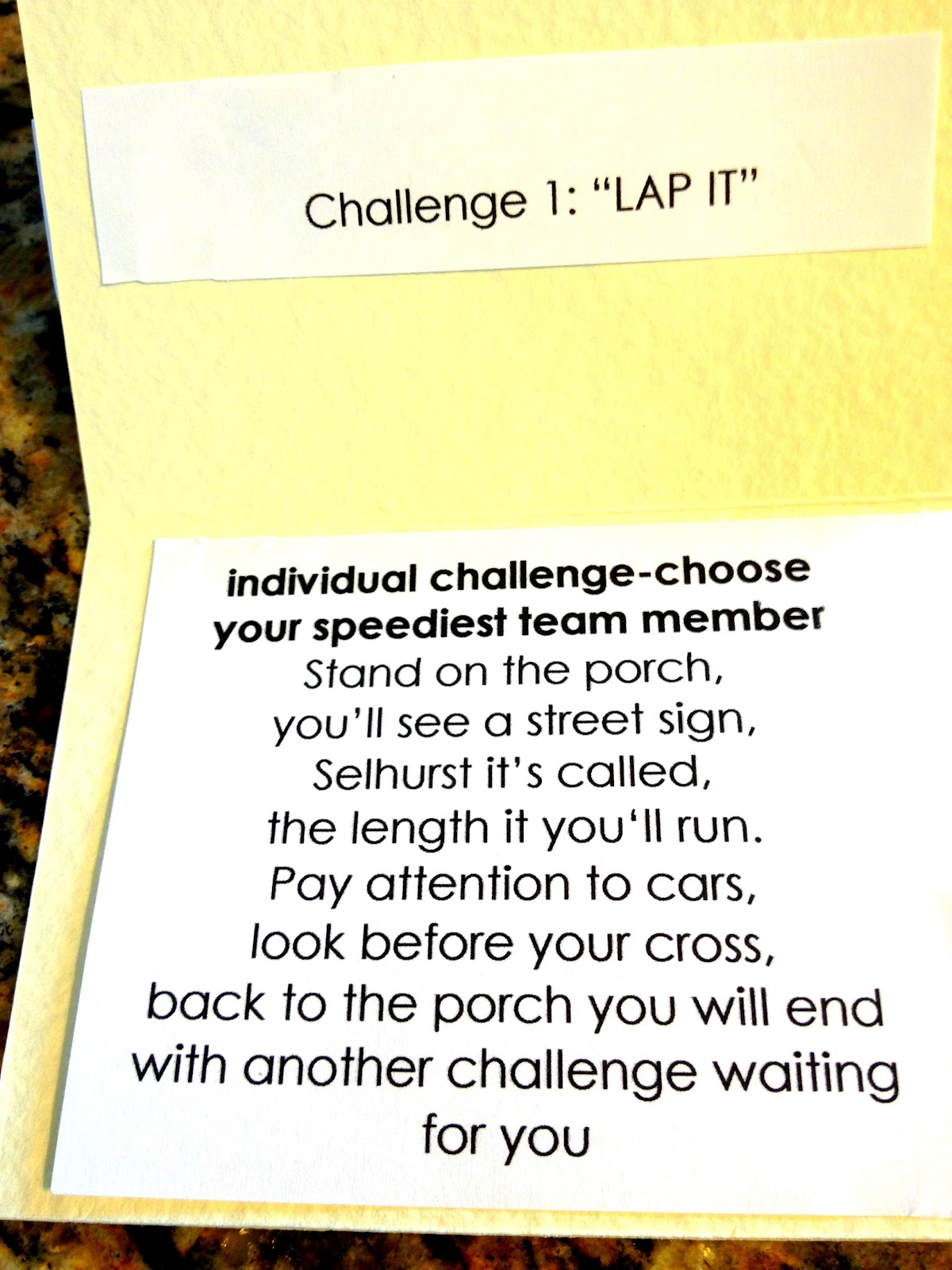 Amazing race ideas -  Lap It