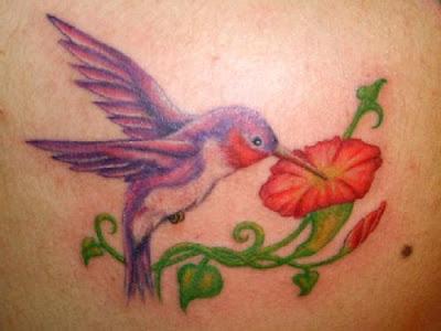 Desenhos e significados de Tatuagens de Beija-Flor