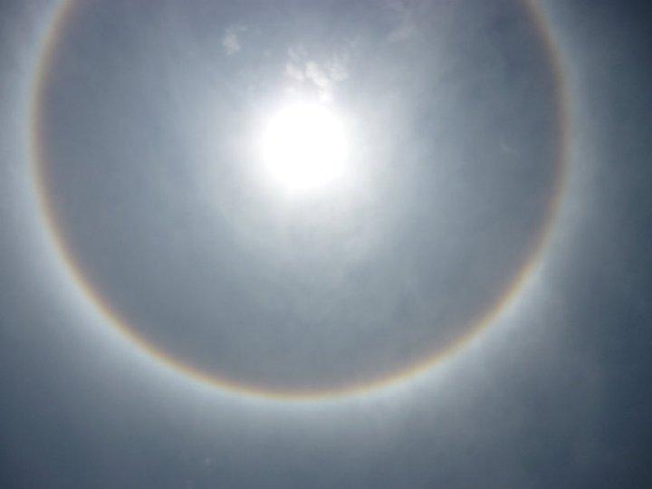 Fotos de el Halo del Sol de Hoy [Espectacular]