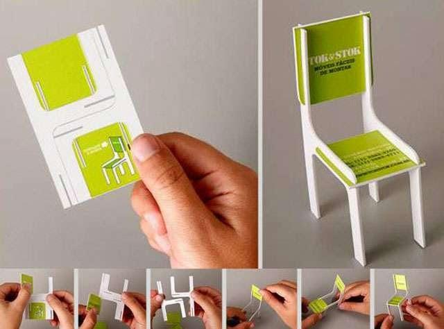 ilginç ve yaratıcı kartvizit tasarımlarına örnek, Sandalyeci