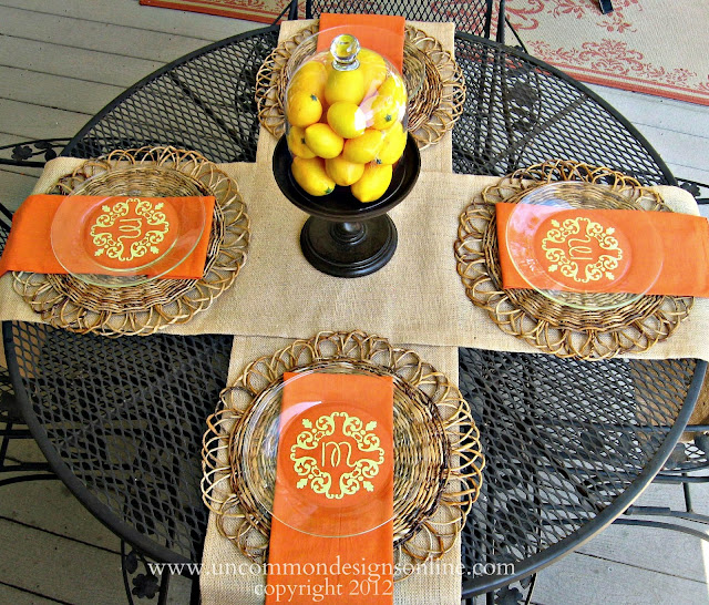 DIY Monogrammed Plates. Create these simple accents for a personal handmade gift.
