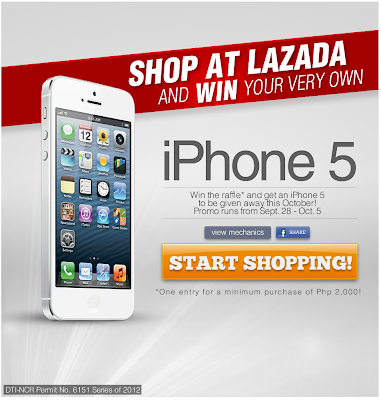 Chance to win an Apple iPhone 5 when you shop online at Lazada Philippines!