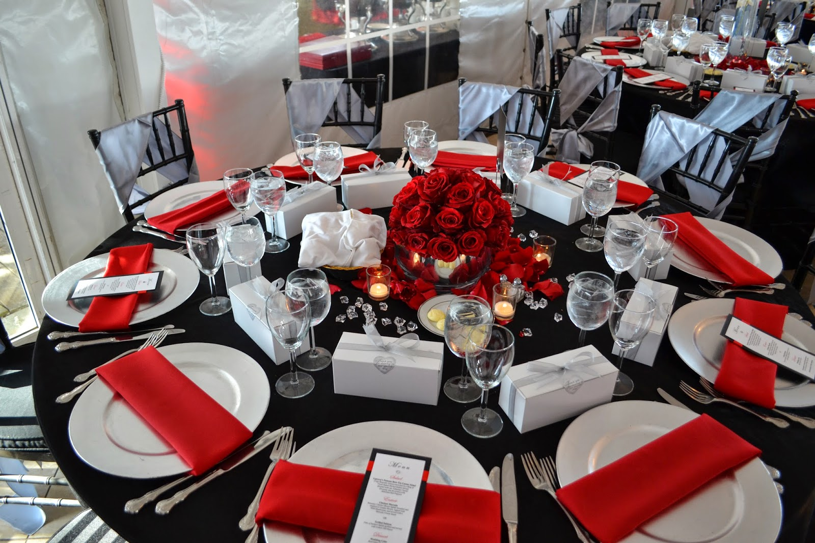 Violet Gardens Floral Designs: Red, Silver and Black Wedding