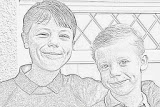 drawing of my nephews ready for school