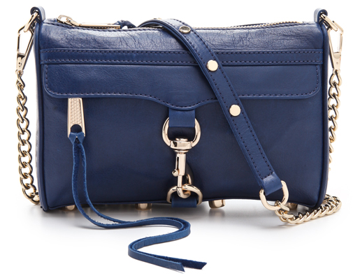 Sprinkles and Style || Rebecca Minkoff Mini MAC Bag in Navy