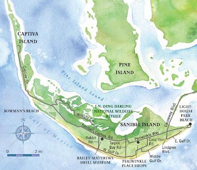 Sanibel Island map
