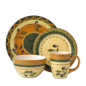 Pfaltzgraff Everyday Tuscan Olive 16-Piece Dinnerware Set Service for 4  sc 1 st  10 gifts for every seasons - Blogger & 10 GIFTS FOR EVERY SEASONS: Stoneware Dinnerware Sets - Special price!