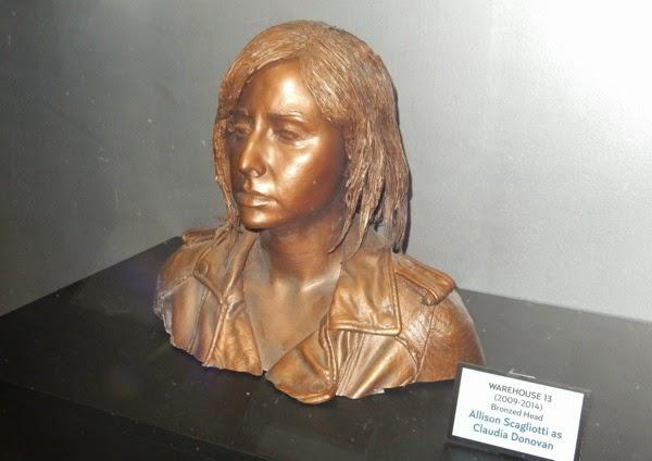 Warehouse 13 Allison Scagliotti Claudia Donovan bronzed head