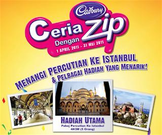 Peraduan Ceria Dengan Cadbury Zip