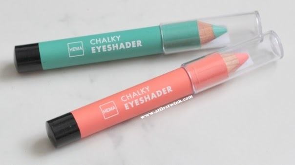 HEMA chalky eyeshaders in orange and green