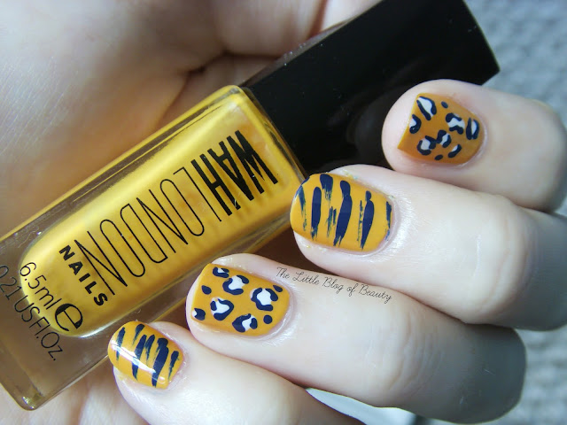 Mixed cat prints nail art for WAH Nails and Birchbox