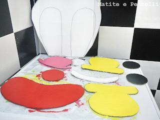 pagliaccio di cartone tutorial pezzi colorati