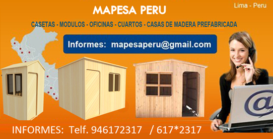 Mapesaperu casetas y m dulos prefabricados venta de - Refugios de madera prefabricados ...