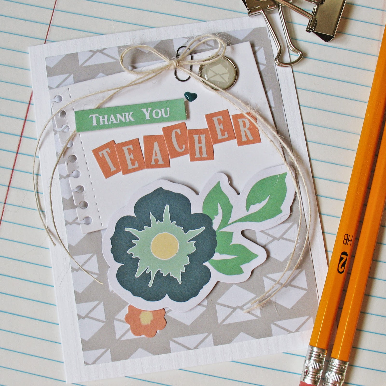 Kathy Martin Chickaniddy Crafts Back to School card