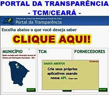 PORTAL DA TRANSPARÊNCIA - TCM/CE