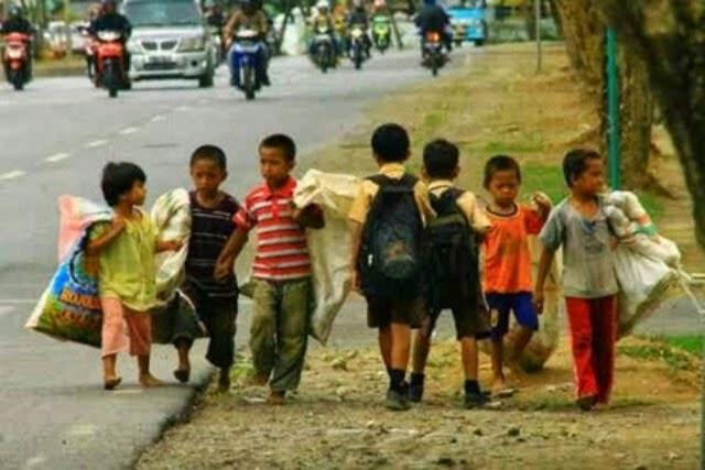 Anak tak sekolah karena ekonomi