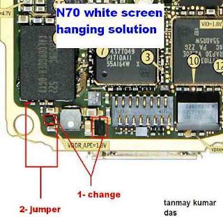 nokia n70 white screen problem