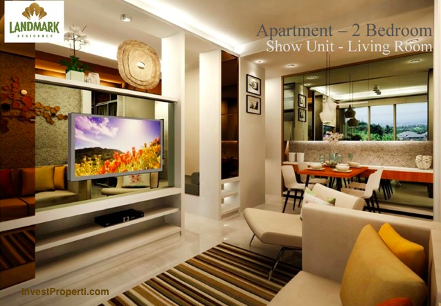 Interior Design Living Room 2 Bedroom Landmark Residence Apartment