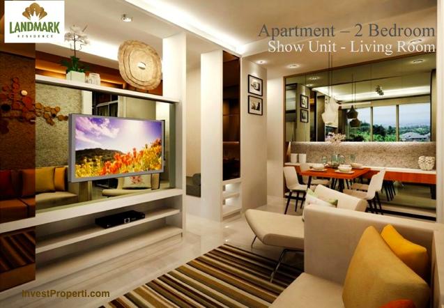 Interior design apartemen landmark residence bandung for Design apartemen 2 kamar