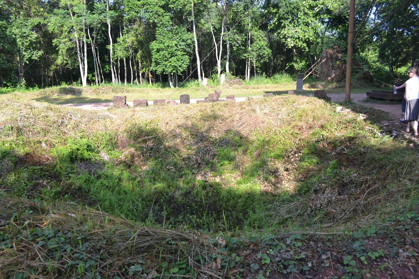 Reminder of Vietnam war-Bomb Crater in my son