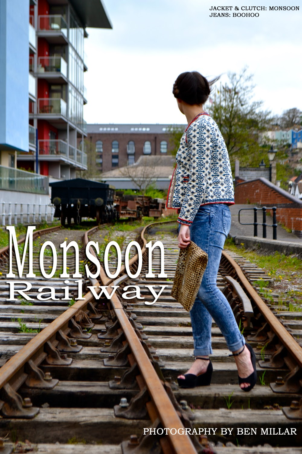 Monsoon embelished jacket; clashing prints
