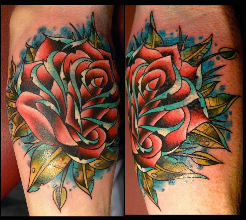 Traditional tattoo designs for Neo traditional rose tattoo