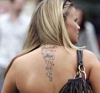 Tatuagens femininas nomes en volta